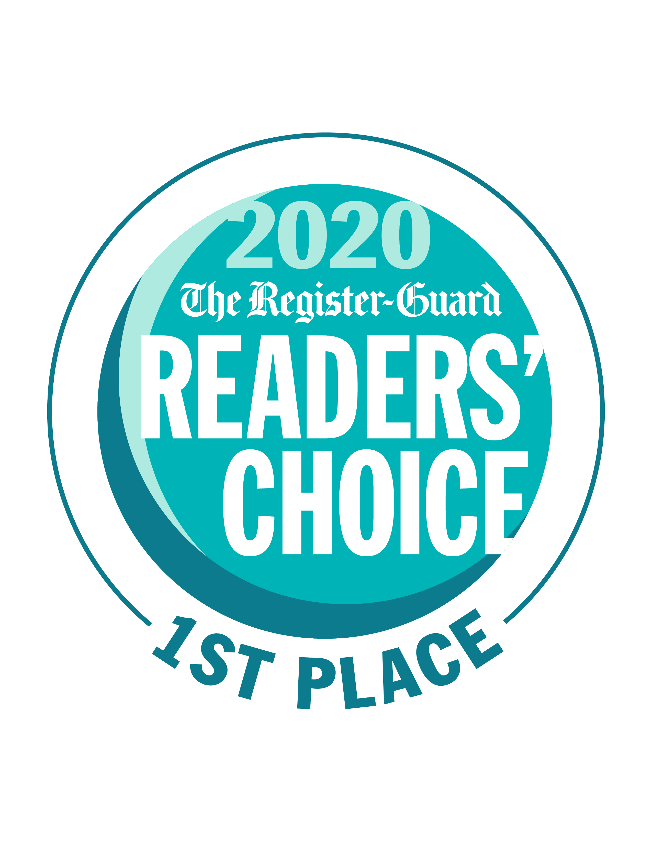 2020 The Register-Guard's Readers' Choice - 1st Place